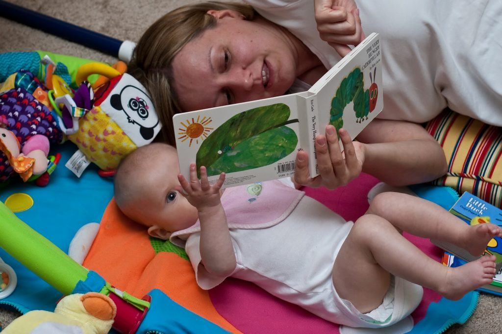 reading to infants and children